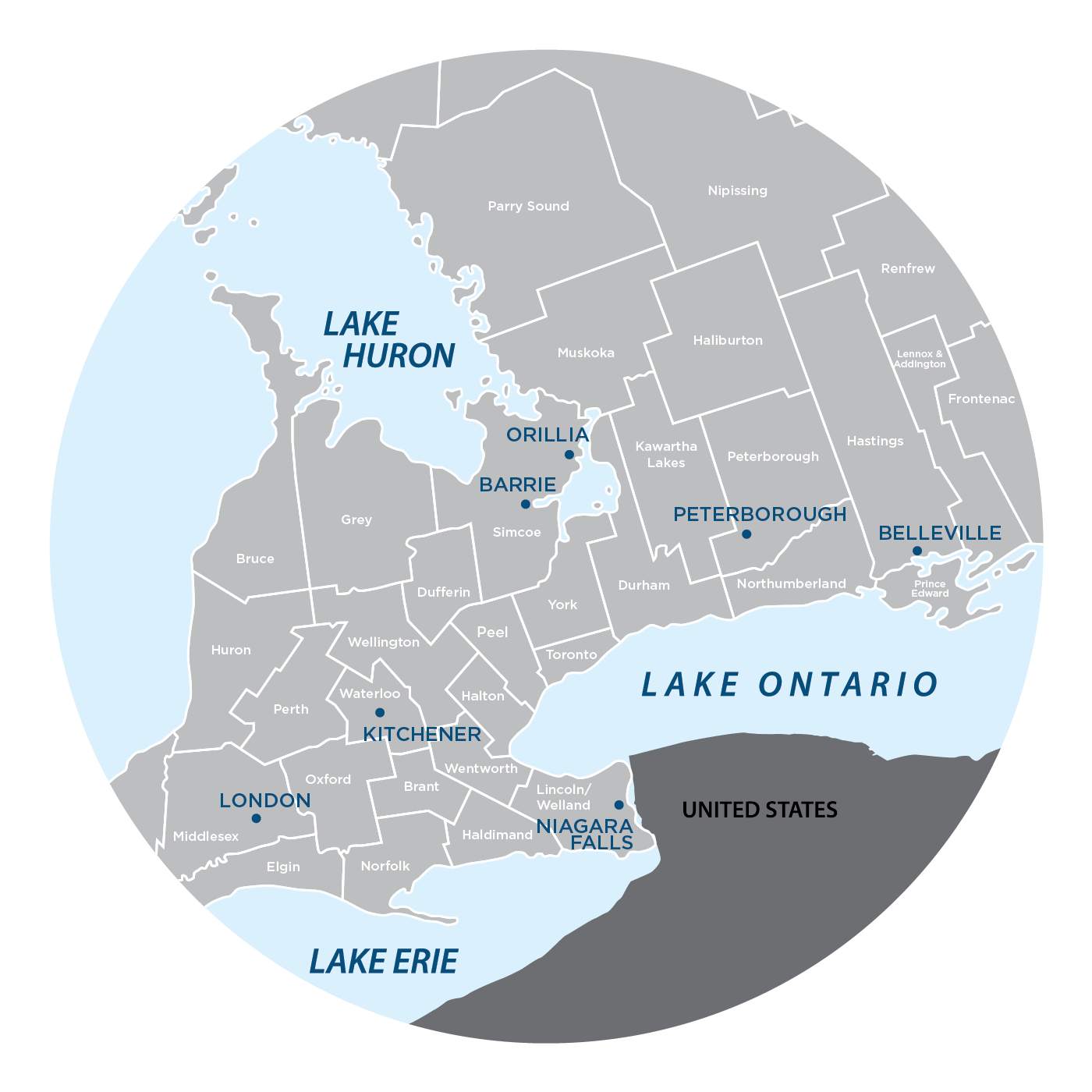 JJ Ontario Service Map
